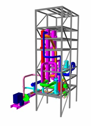 Large solvent recovery system 3D Drawing
