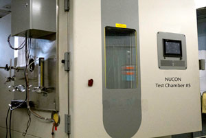 Radioiodine adsorbent testing facility